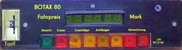 Taxameter Fahrpreis-Anzeiger bis 1989
