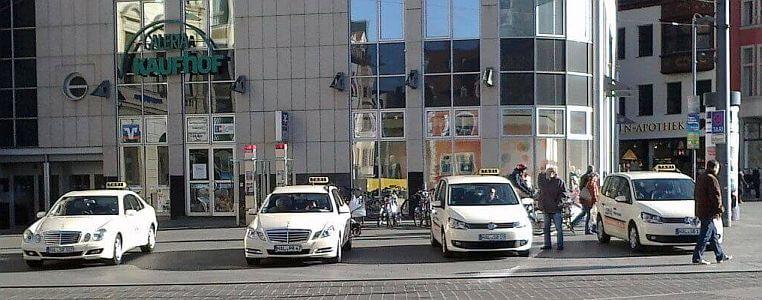 Taxi-Standplatz Markt öffentlicher Halteplatz